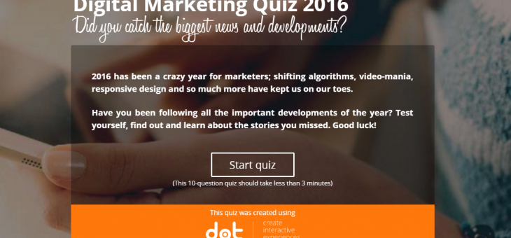 [Quiz] Digital Marketing 2016