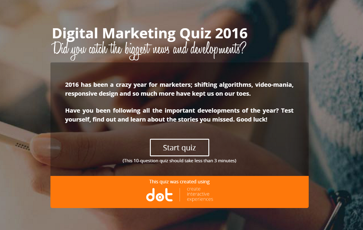 quiz digital marketing knowledge and news