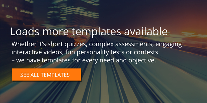 interactive content templates