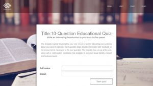 quiz template with lead-gen form