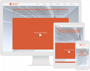 Interactive Video with chapters for company presentations