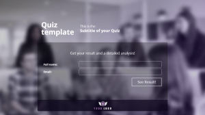 Quiz Template - Challenge your audience to a test in which the results include a score and detailed feedback for each question. Grow your email list by gating the results with an opt-in form.