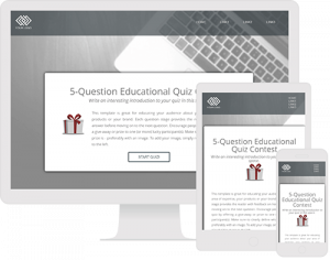 Template for creating an educational quiz contest