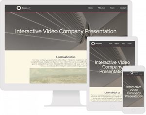 interactive video company presentation template with chapters in video