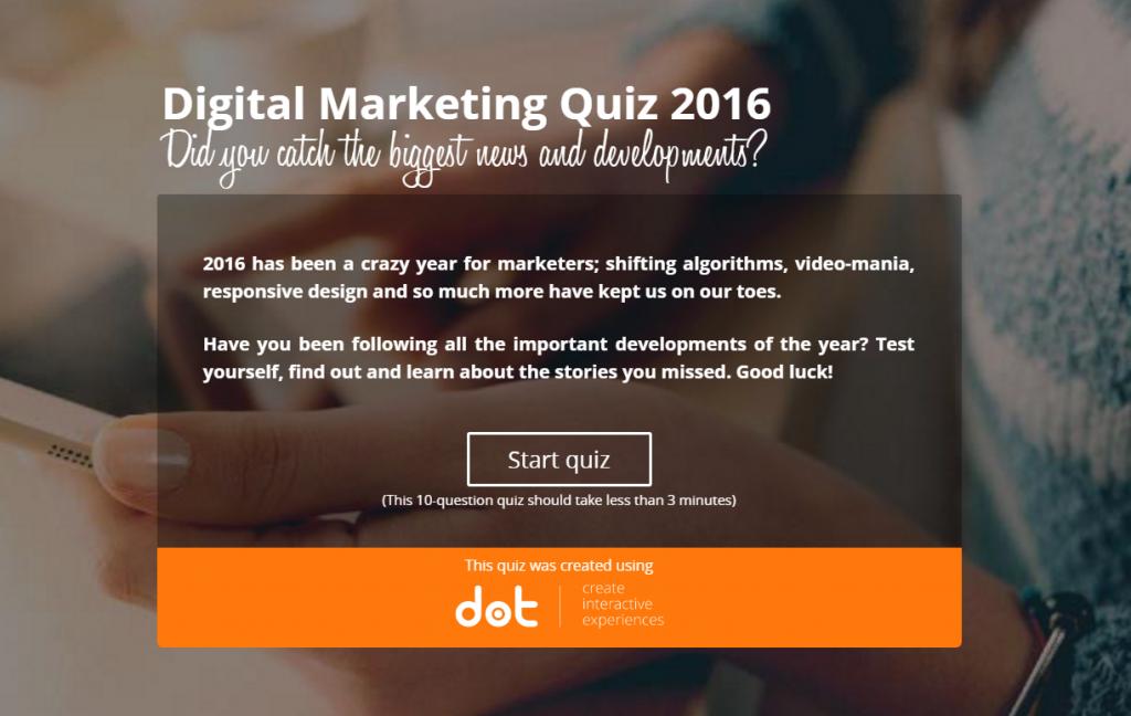 quiz digital marketing knowledge and news