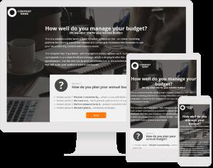Solution Builder Landing Page