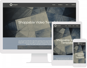 Shoppable product video template