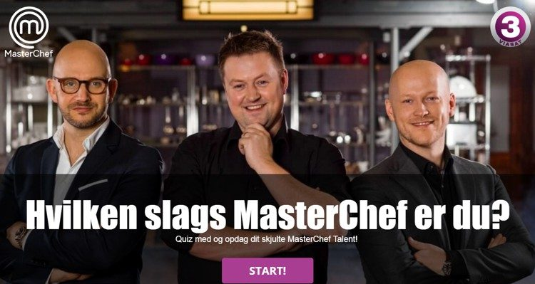 MasterChef Denmark created this fun quiz to create a bit of buzz about the upcoming season of the popular reality show, and to encourage potential contestants to sign up for their casting call.