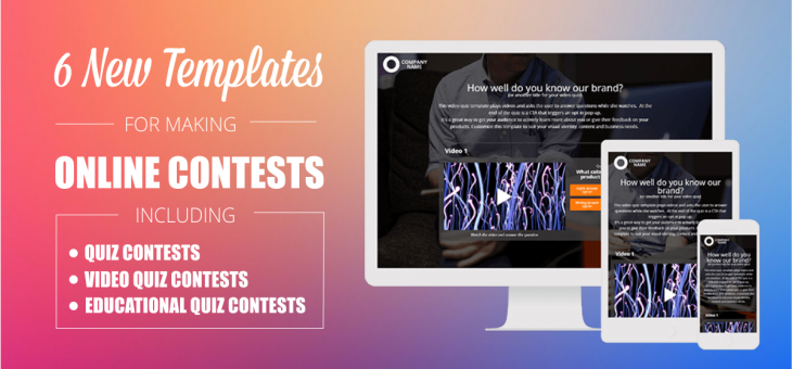 6 New Templates for Making Online Contests