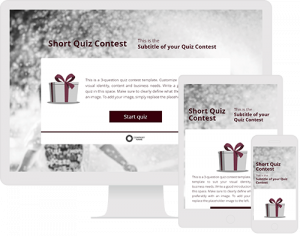 Template for creating a short quiz contest