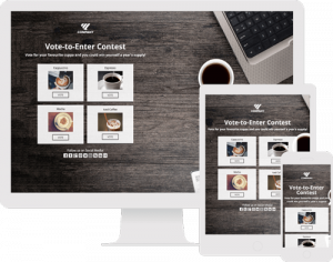 The Vote to Enter Contest is a great way to crowdsource your audience's opinions. Use this template to get feedback on new, existing or upcoming products or just to engage your audience.
