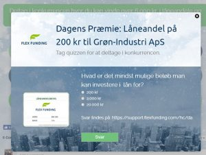 Online Advent Calender example - Flexfunding