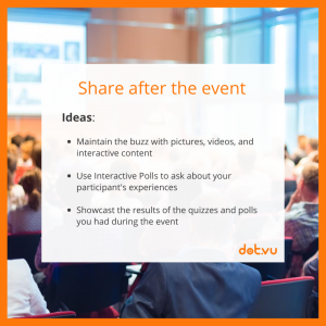 Promote an event with Interactive Content: Interactive during the event
