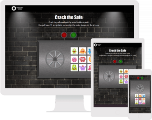gamification example, crack the safe game