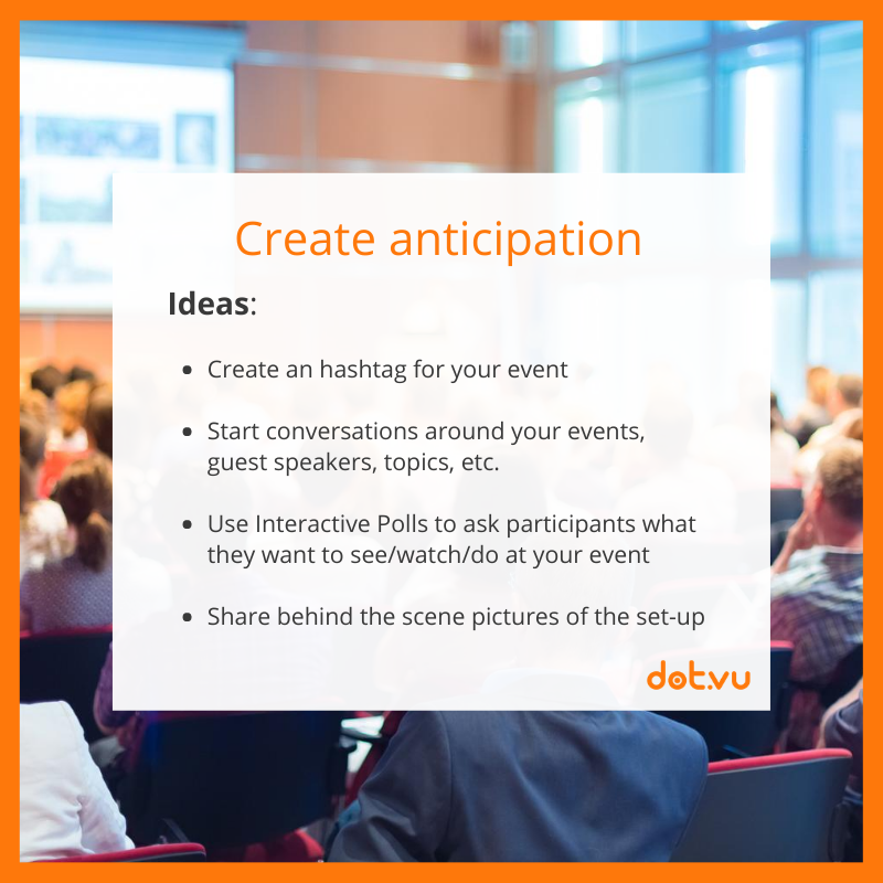 Promote an event with Interactive Content: Create anticipation