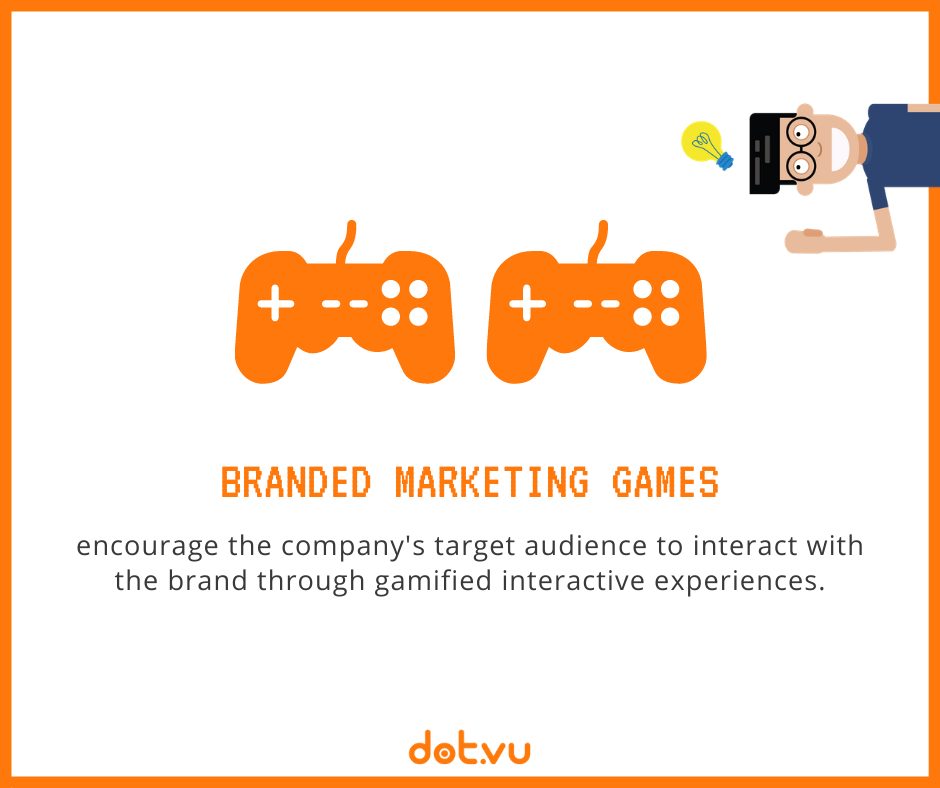 Branded Marketing Games encourage the company's target audience to interact with the brand through gamified interactive experiences