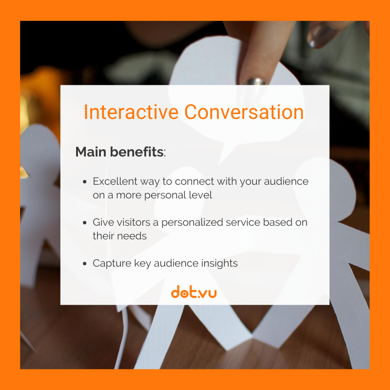 B2B interactive experiences - Interactive Conversation
