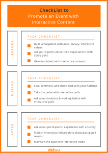 Promote an event with content marketing - infographic