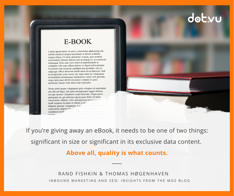 Interactive eBook --> Quote from Moz blog
