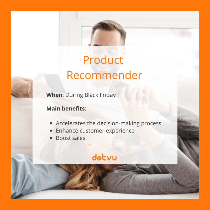 Interactive Experiences to boost sales on Black Friday: Product Recommender
