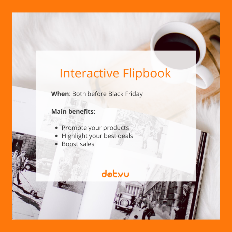 Interactive Experiences to boost sales on Black Friday: Interactive Flipbook