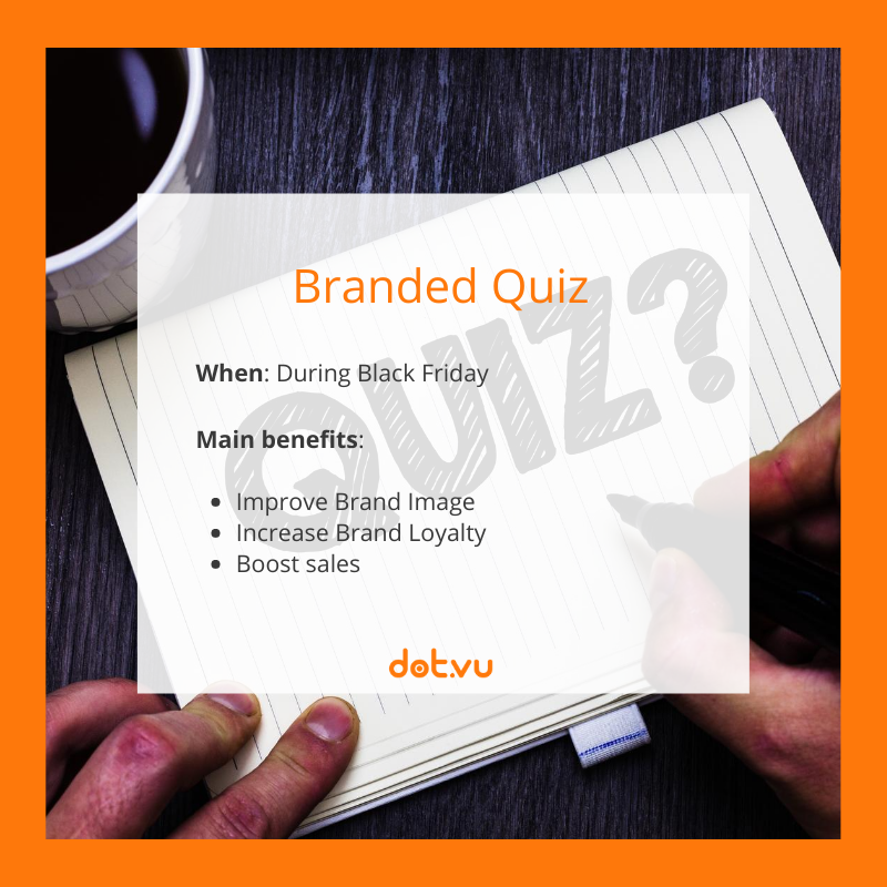 Interactive Experiences to boost sales on Black Friday: Branded Quizzes