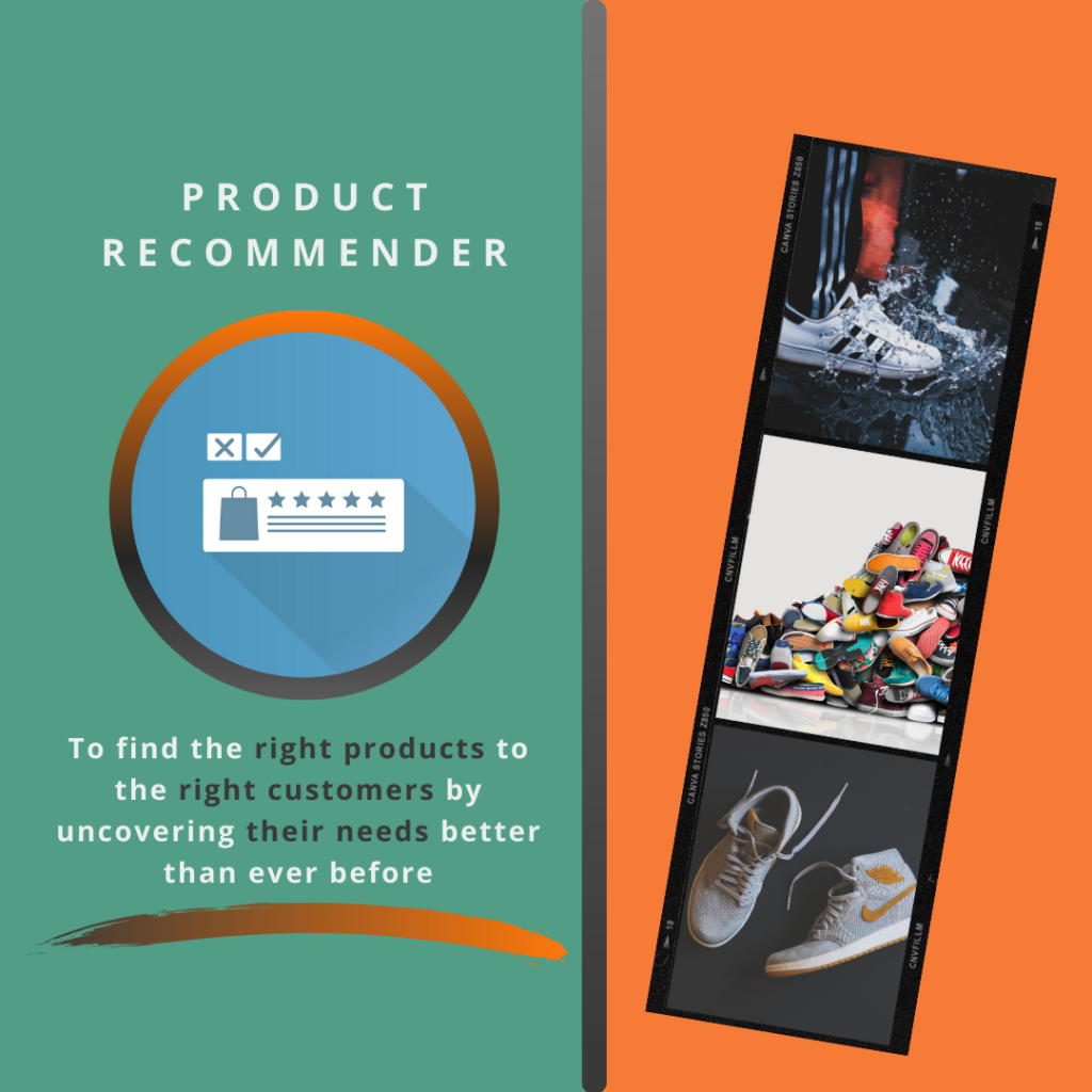 Product Recommender. To find the right products to the right customers by uncovering their needs better than ever before