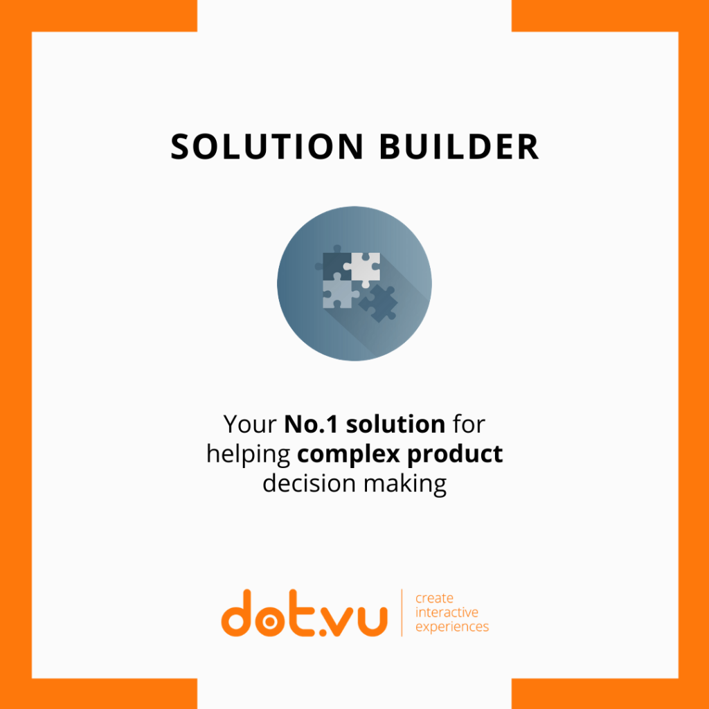 Solution Builder is your number one solution for helping complex product decision making