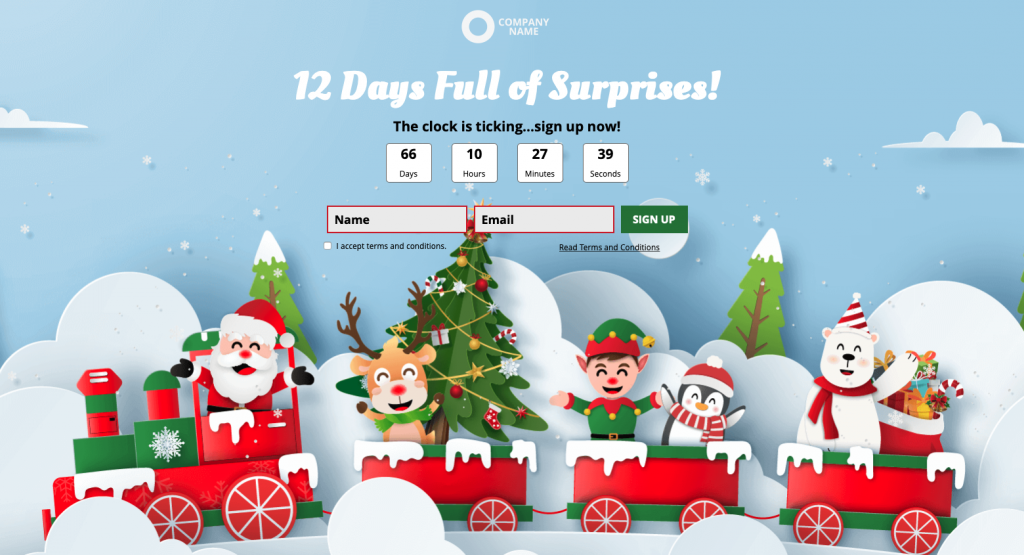 Christmas Interactive Experiences - Example of Online Advent Calendar