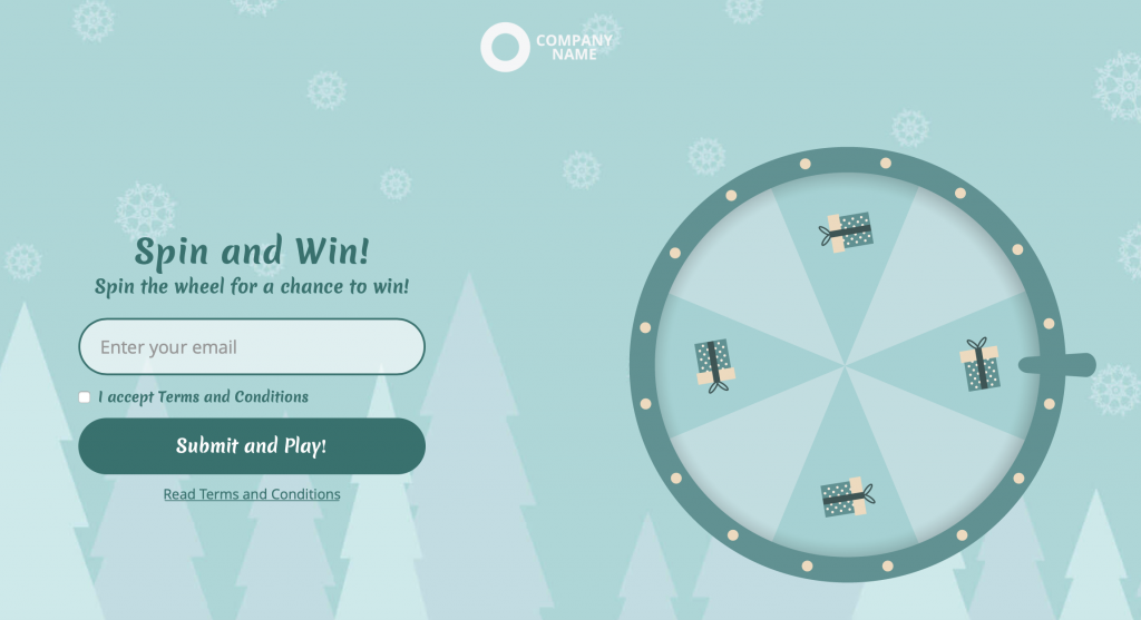 7 Types of Marketing Games - Example - Spin the wheel template - Find it on Dot.vu/marketplace