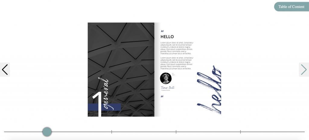 examples of interactive flipbook
