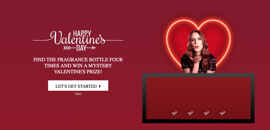 Examples of Marketing Games: The Perfume Shop's Valentines Game