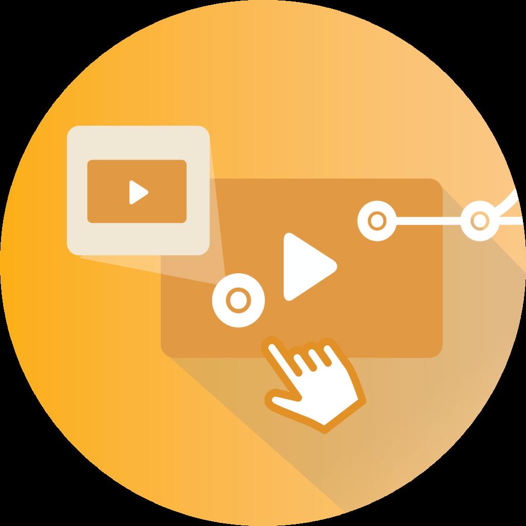 Branching video logo