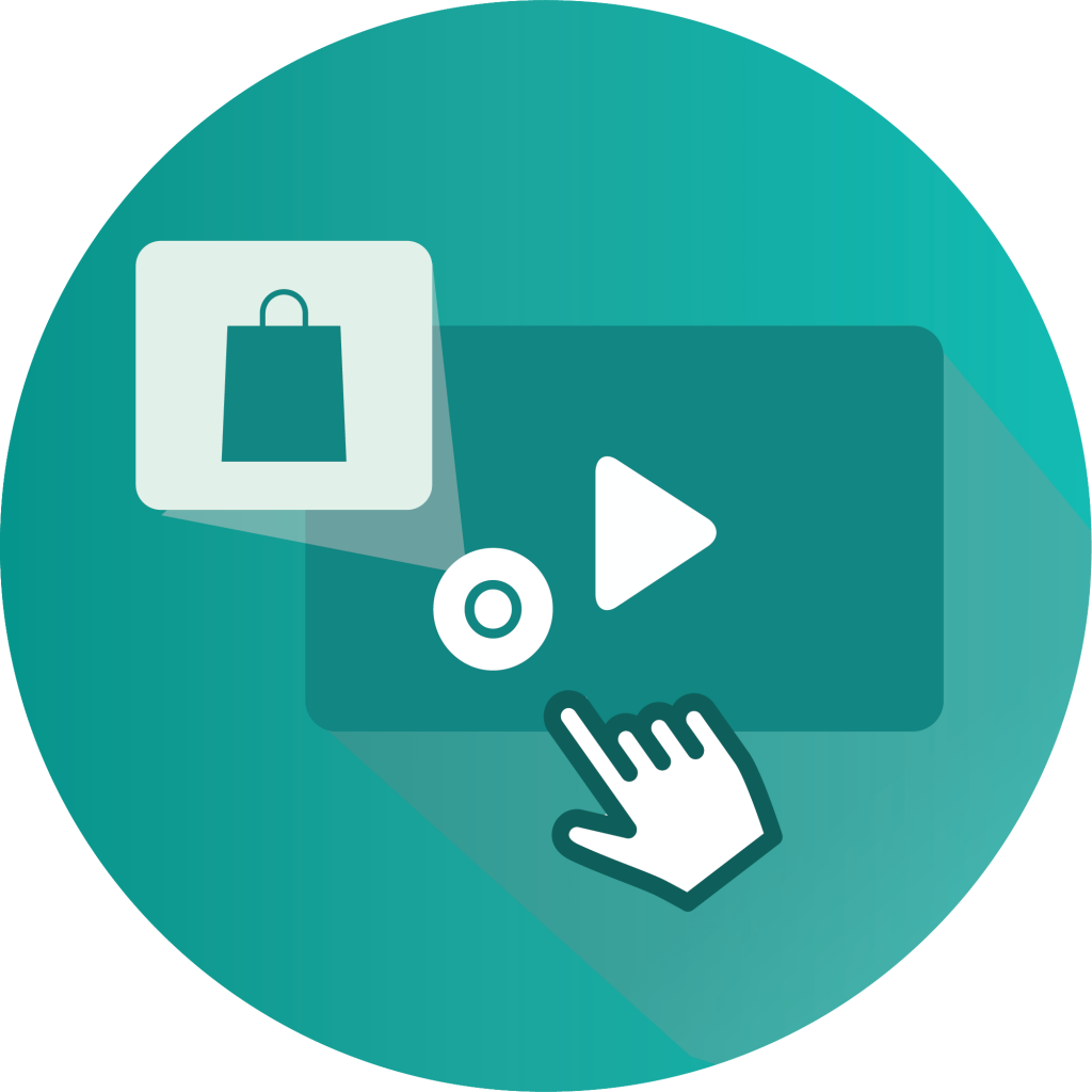 Shoppable video logo