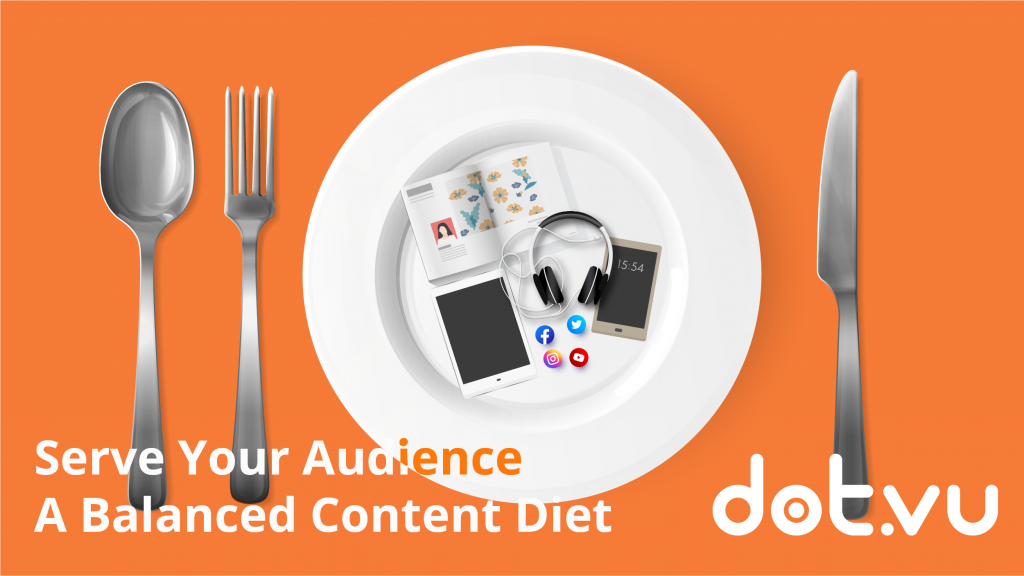 serve your audience a balanced content diet, content marketing with interactive content