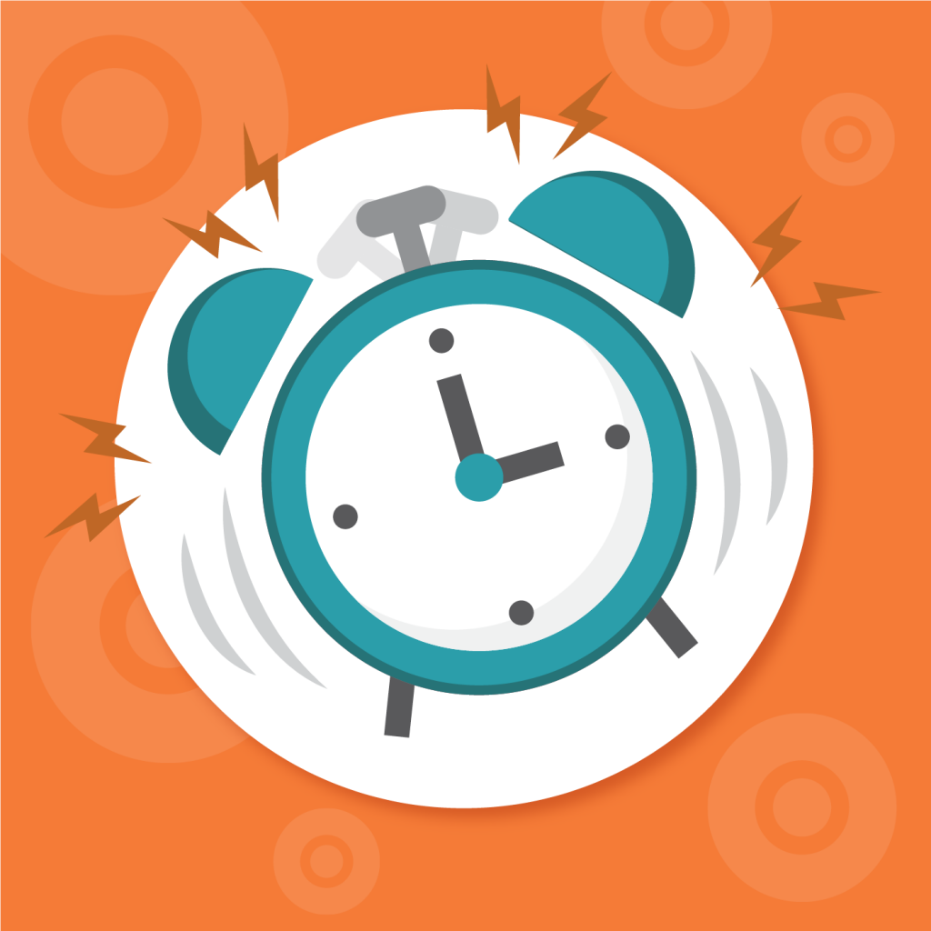 Sending daily reminders for online contests, Clock image