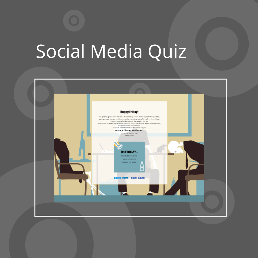 social media quiz example and link, interactive content