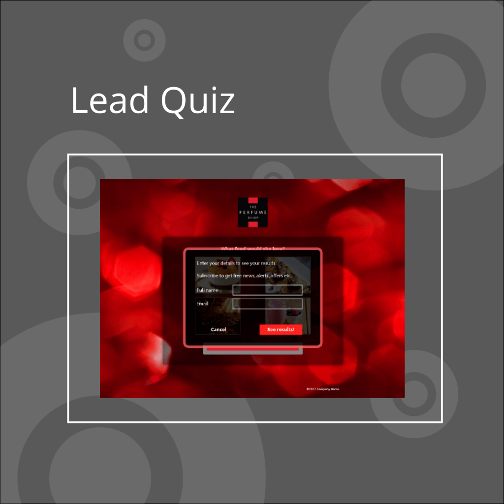 lead quiz example and link, interactive content