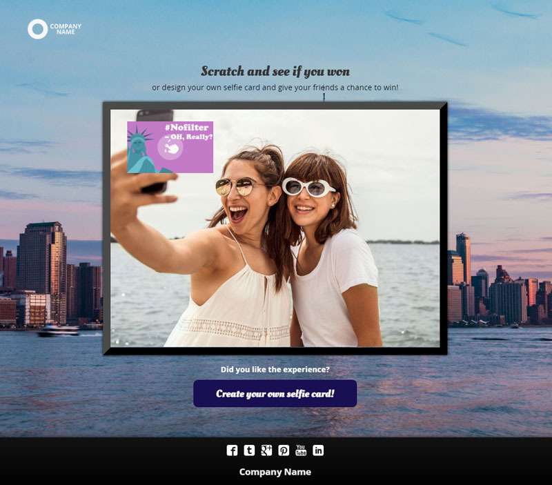 selfie contest for social media, summer campaign, interactive experiences, marketing
