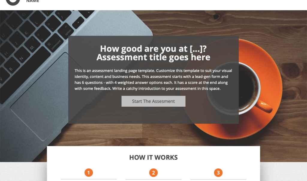 online assessment (knowledge based assessment to test skills) interactive assessment