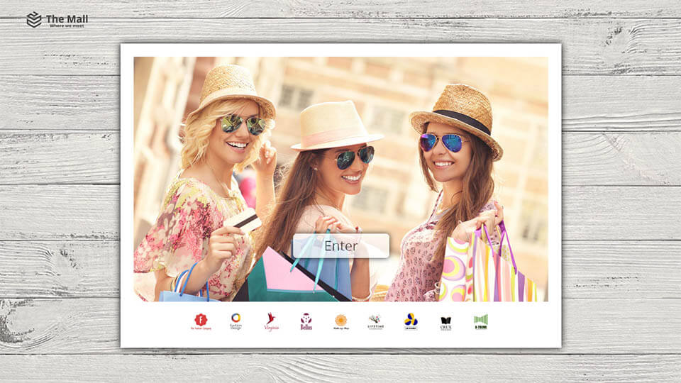 Example of an interactive lookbook, interactive catalog, marketing summer campaign