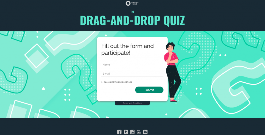 an interactive quiz example to help increase customer engagement