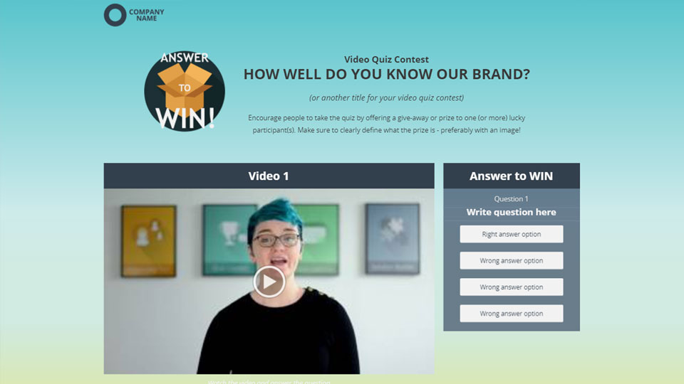Click here to try an example of an Interactive Video