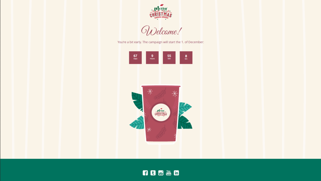 Dot.vu example of a Marketing Game template with a Christmas theme