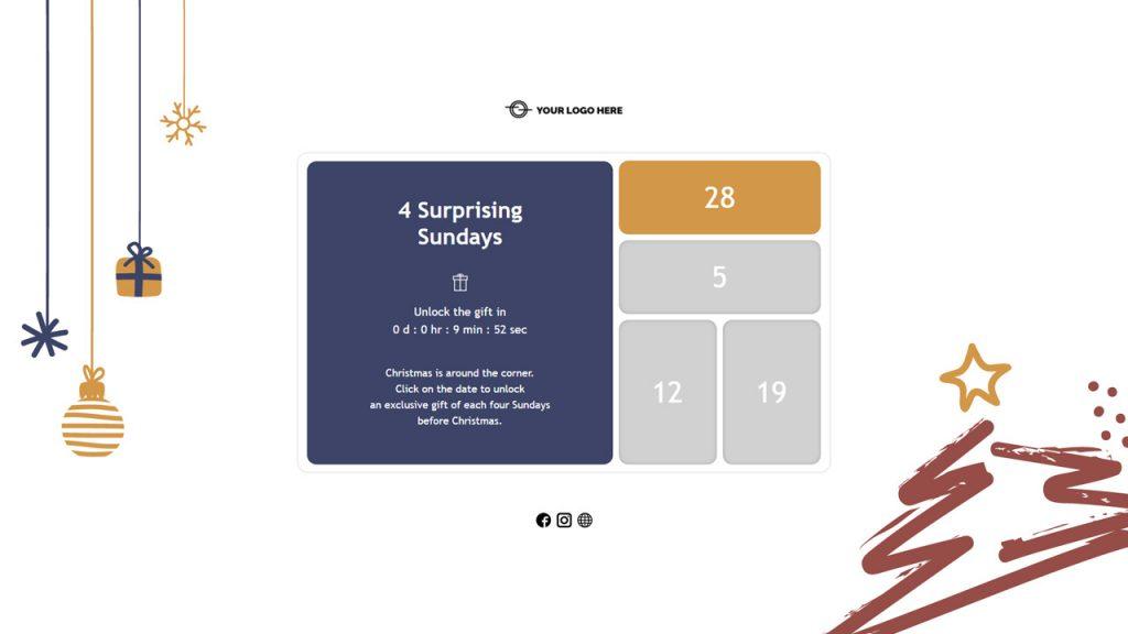 Example of a Dot.vu Interactive Advent Calendar