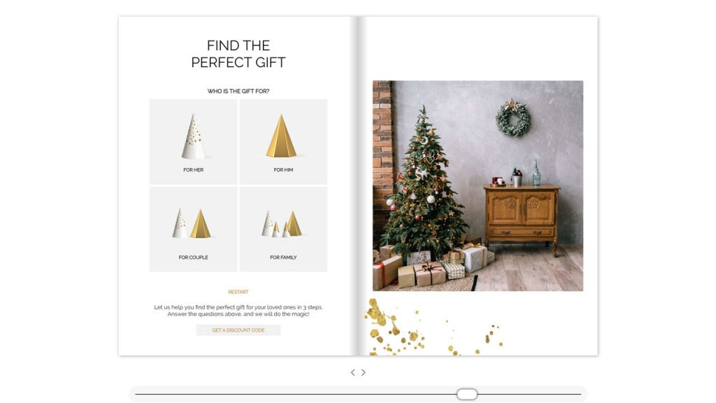 Try an example of an Interactive Holiday Gift Guide