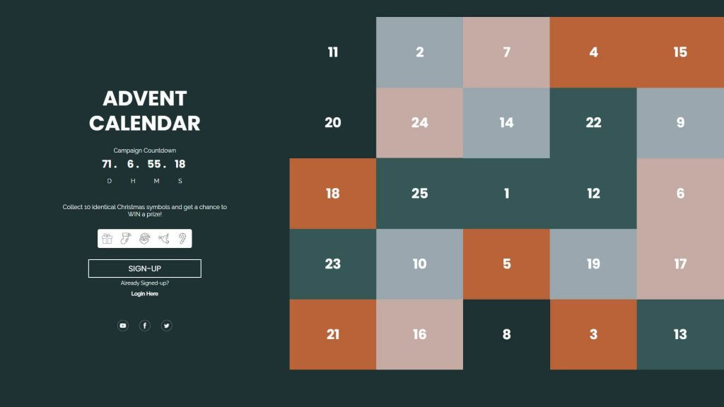 Try an example of an Interactive Advent Calendar